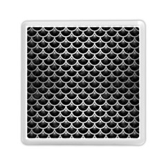 Scales3 Black Marble & Silver Brushed Metal Memory Card Reader (square)