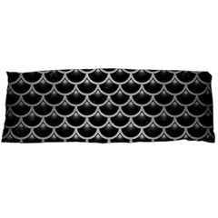 Scales3 Black Marble & Silver Brushed Metal Body Pillow Case (dakimakura)