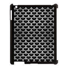 Scales3 Black Marble & Silver Brushed Metal Apple Ipad 3/4 Case (black)