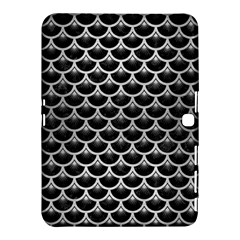 Scales3 Black Marble & Silver Brushed Metal Samsung Galaxy Tab 4 (10 1 ) Hardshell Case