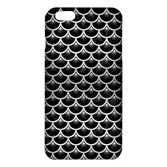 Scales3 Black Marble & Silver Brushed Metal Iphone 6 Plus/6s Plus Tpu Case