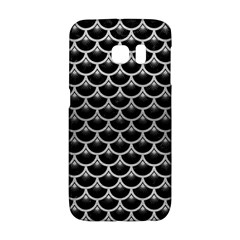 Scales3 Black Marble & Silver Brushed Metal Samsung Galaxy S6 Edge Hardshell Case