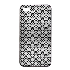 Scales2 Black Marble & Silver Brushed Metal (r) Apple Iphone 4/4s Seamless Case (black)
