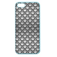 Scales2 Black Marble & Silver Brushed Metal (r) Apple Seamless Iphone 5 Case (color)