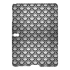 Scales2 Black Marble & Silver Brushed Metal (r) Samsung Galaxy Tab S (10 5 ) Hardshell Case