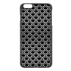 Scales2 Black Marble & Silver Brushed Metal Apple Iphone 6 Plus/6s Plus Black Enamel Case