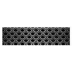 Scales2 Black Marble & Silver Brushed Metal Satin Scarf (oblong)