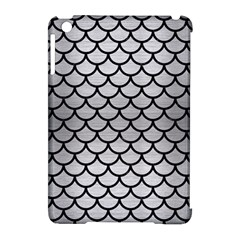 Scales1 Black Marble & Silver Brushed Metal (r) Apple Ipad Mini Hardshell Case (compatible With Smart Cover)