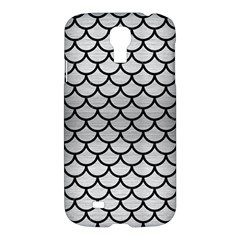 Scales1 Black Marble & Silver Brushed Metal (r) Samsung Galaxy S4 I9500/i9505 Hardshell Case