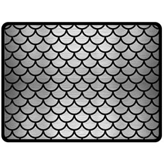 Scales1 Black Marble & Silver Brushed Metal (r) Double Sided Fleece Blanket (large)