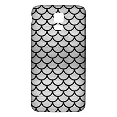 Scales1 Black Marble & Silver Brushed Metal (r) Samsung Galaxy S5 Back Case (white)