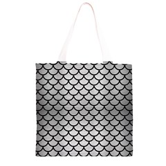 SCA1 BK MARBLE SILVER (R) Grocery Light Tote Bag