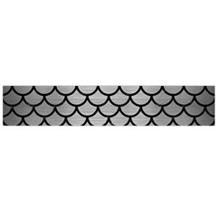 Scales1 Black Marble & Silver Brushed Metal (r) Flano Scarf (large)