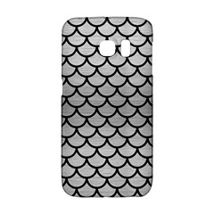 Scales1 Black Marble & Silver Brushed Metal (r) Samsung Galaxy S6 Edge Hardshell Case