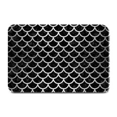 Scales1 Black Marble & Silver Brushed Metal Plate Mat