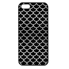 Scales1 Black Marble & Silver Brushed Metal Apple Iphone 5 Seamless Case (black)