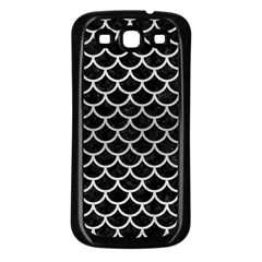 Scales1 Black Marble & Silver Brushed Metal Samsung Galaxy S3 Back Case (black)