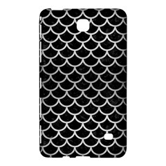 Scales1 Black Marble & Silver Brushed Metal Samsung Galaxy Tab 4 (7 ) Hardshell Case