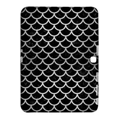 Scales1 Black Marble & Silver Brushed Metal Samsung Galaxy Tab 4 (10 1 ) Hardshell Case