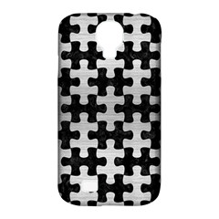 Puzzle1 Black Marble & Silver Brushed Metal Samsung Galaxy S4 Classic Hardshell Case (pc+silicone)