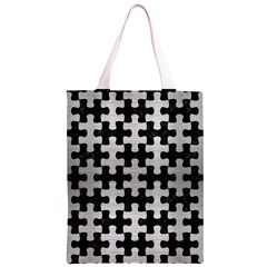 PUZ1 BK MARBLE SILVER Classic Light Tote Bag