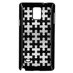 Puzzle1 Black Marble & Silver Brushed Metal Samsung Galaxy Note 4 Case (black)