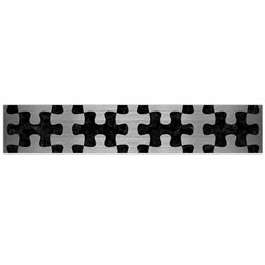 Puzzle1 Black Marble & Silver Brushed Metal Flano Scarf (large)
