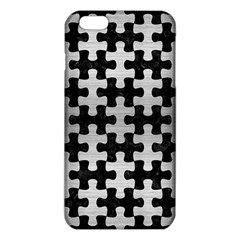 Puzzle1 Black Marble & Silver Brushed Metal Iphone 6 Plus/6s Plus Tpu Case