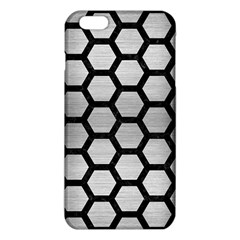 Hexagon2 Black Marble & Silver Brushed Metal (r) Iphone 6 Plus/6s Plus Tpu Case