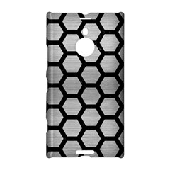 Hexagon2 Black Marble & Silver Brushed Metal Nokia Lumia 1520 Hardshell Case