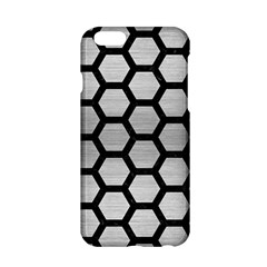 Hexagon2 Black Marble & Silver Brushed Metal Apple Iphone 6/6s Hardshell Case