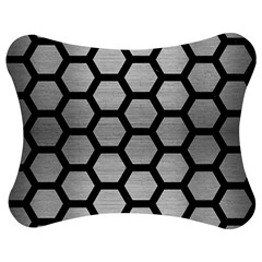 Hexagon2 Black Marble & Silver Brushed Metal Jigsaw Puzzle Photo Stand (bow)