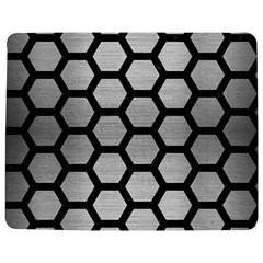 Hexagon2 Black Marble & Silver Brushed Metal Jigsaw Puzzle Photo Stand (rectangular)