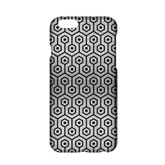 Hexagon1 Black Marble & Silver Brushed Metal (r) Apple Iphone 6/6s Hardshell Case