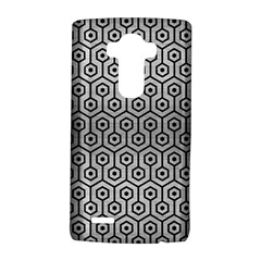 Hexagon1 Black Marble & Silver Brushed Metal (r) Lg G4 Hardshell Case