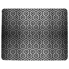 Hexagon1 Black Marble & Silver Brushed Metal (r) Jigsaw Puzzle Photo Stand (rectangular)