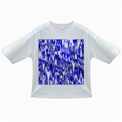 Funky Chevron Blue Infant/toddler T Shirts