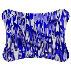 Funky Chevron Blue Jigsaw Puzzle Photo Stand (Bow)