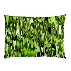 Funky Chevron Green Pillow Cases (two Sides)