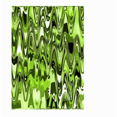 Funky Chevron Green Large Garden Flag (two Sides)