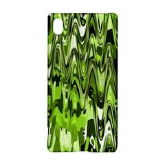 Funky Chevron Green Sony Xperia Z3+