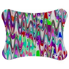 Funky Chevron Multicolor Jigsaw Puzzle Photo Stand (bow)