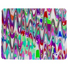 Funky Chevron Multicolor Jigsaw Puzzle Photo Stand (Rectangular)