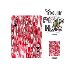 Funky Chevron Red Playing Cards 54 (mini)