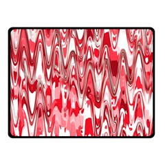 Funky Chevron Red Double Sided Fleece Blanket (small)