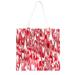 Funky Chevron Red Grocery Light Tote Bag