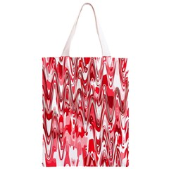 Funky Chevron Red Classic Light Tote Bag