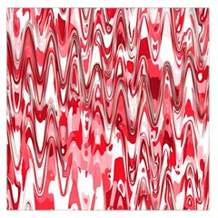 Funky Chevron Red Large Satin Scarf (square)