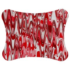Funky Chevron Red Jigsaw Puzzle Photo Stand (bow)