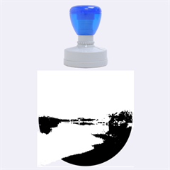 View   On The Lake Rubber Round Stamps (large)